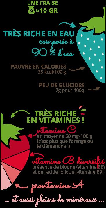 nutrition et vitamine d'une fraise