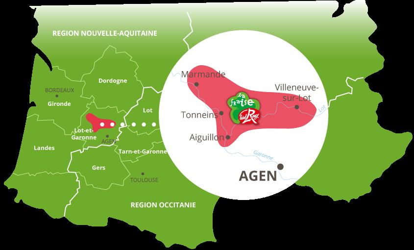 zone de production fraises label rouge